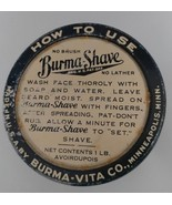 Vintage Burma Shave Cream Jar 1lb Collectible Ribbed Clear Glass 16 oz w... - $44.03