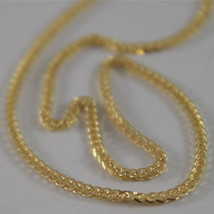 SOLID 18K YELLOW GOLD CHAIN NECKLACE WITH 1MM EAR LINK 19.69 INCH, MADE IN ITALY image 2