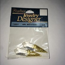 WHOLESALE DARICE 2 PC CLEAR ACRYLIC BEADS WITH GOLD FILIGREE (6-PACKS) #... - $0.99