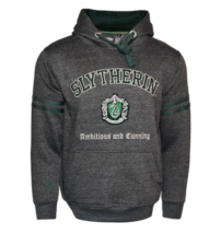 HP129 Licensed Unisex Slytherin™ Hooded Hoodie Sweatshirt-Charcoal Harry... - $44.99