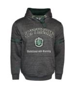 HP129 Licensed Unisex Slytherin™ Hooded Hoodie Sweatshirt-Charcoal Harry... - $44.99