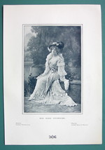 ACTRESS Miss Marie Studholme England - 1901 Offset Litho Print - $8.55