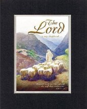 The Lord is my shepherd... . . . 8 x 10 Inches Biblical/Religious Verses set in  - $11.14