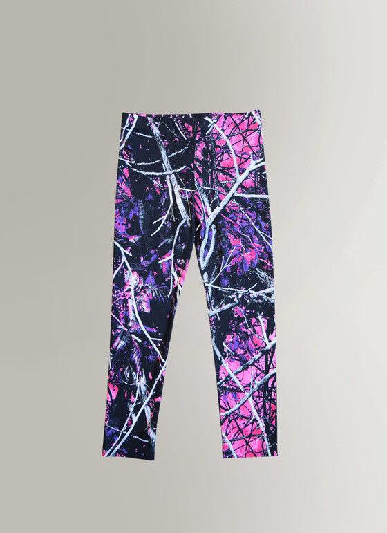 1d69c51f4a Muddy Girl Pink, Purple & Black Camo Leggings | Kids Girls Camouflage Yoga  Pants
