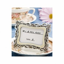 1 Victorian Design Picture Frame Wedding Frame Birthday Place Card Holder - $6.91