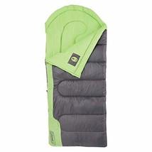Coleman Raymer 40 Degree Tall Sleeping Bag, Green/Gray - 100% Polyester - $74.25