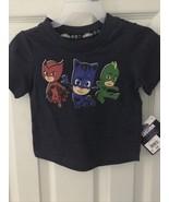 PJ Masks Shirt Owlette Catboy Gekko Short Sleeve Tee 12M NWT  - $12.86