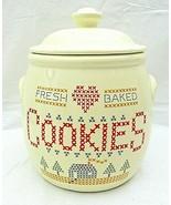 Cross Stitch Cookie Jar Fresh Baked Treasure Craft Sampler Country 1984 ... - $59.39