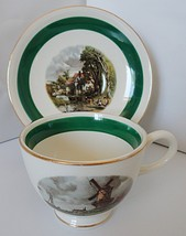 Homer Laughlin Amsterdam Nautilus Line Cup & Saucer - $9.27