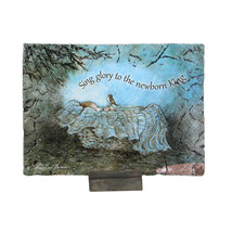 "Roman 7"" ""Sing Glory to the New Born King"" Baby Jesus Christmas Plaque - $19.59"