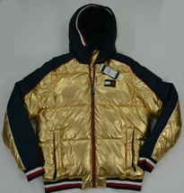 Men's XXL 2XL Tommy Hilfiger Puffer Hooded Outerwear Jacket ColdStop Gol... - $149.99