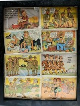 *8* Wwii Comic Postcards Collection By Curt Teich Soldier Correspondence 1941-42 - $60.78