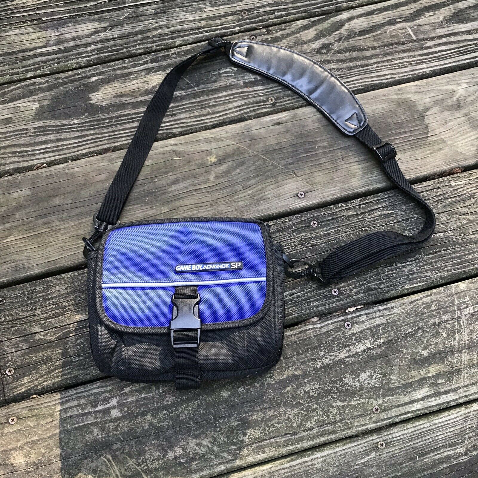 Primary image for Vintage Nintendo Gameboy Carrying Case Bag Black Shoulder Bag Supreme Waist Bag