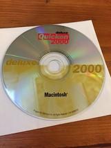 Quicken 2000 Deluxe Macintosh Mac Software Install Disc CD Intuit 1999 Vintage - $29.99