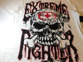 No Fear Hombres Camiseta Manga Corta Algodón Blanco Talla L 68E00721BE Nwt - £13.46 GBP