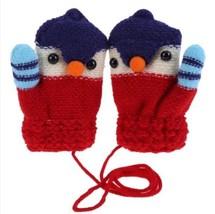 Winter Cartoon Bird Mittens Children Knitted Elastic Fleece Thick Croche... - $6.00