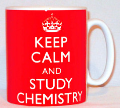 Keep Calm And Study Chemistry Mug Can Personalise Great Student Universi... - $11.84