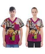 Kermit piggy muppets rabbit V-Neck Scrub Top - $36.00+