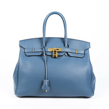 Hermes Birkin 35 Cobalt Clemence Bag - $8,510.00