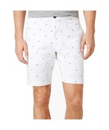 Club Room Men's Starboard Print Shorts Bright White Size 38 - $22.77