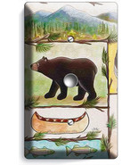 HUNTING CABIN FEVER MOOSE GRIZZLY BEAR LIGHT DIMMER CABLE WALL PLATES RO... - $9.89