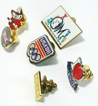6 Vintage Lapel Pins 1988 Usa Olympics Badger Fire Fighter And More See Photos image 2