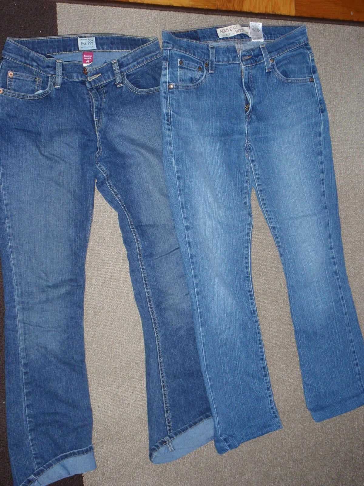 Primary image for TEENS - BLUE JEANS - LEVI'S Womens 6S / Children's Place Girls 14 BOOT CUT