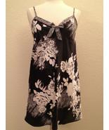 Morgan Taylor Women's Satin Chemise Babydoll 33202 Black & White XS - $17.00