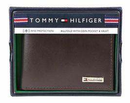 Tommy Hilfiger Men's Leather Credit Card Id Billfold Coin Rfid Wallet 31Tl130049 image 12