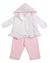 Baby Girls 3pcs Jogging Outfit Sz 6 Months Pink Jacket Pant Shirt Girand... - $23.22