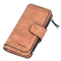 Women PU Leather Wallets Geometric Women Clutch Pink Wallets Zipper Long... - $17.28