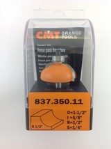 "CMT 837.350.11 Cove Router Bit, 1/4"" Shank, 1/2"" Radius,  Made in Italy - $26.34"