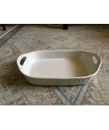 1980s Corning Ware French White 3-quart Open Handle Rectangular Baker - $40.00