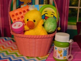"""18"""" Doll Easter Basket Yellow Duck Pink fits Our Generation & American Girl Lot - $14.84"""