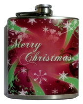 "6 oz ""Merry Christmas"" Hip Flask - $15.44"