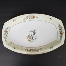 """Heinrich & Co Selb Songbird 14"""" Oval Serving Platter Floral Gold Trim Vi... - $21.77"""