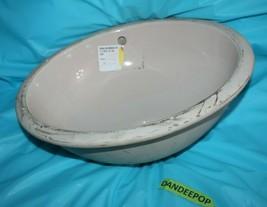 American Standard Beige Oval Under Counter Sink Basin Vanity Bathroom 04... - $49.49