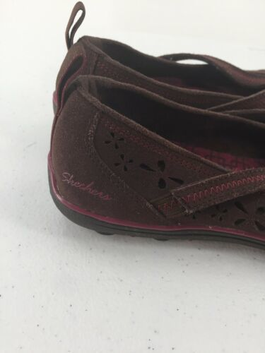 Skechers Womens 8M Shoes Wedge Wine Color Memory Foam image 7