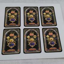 6 Flowers in Vase Playing Cards by Caspari for Crafting, Re-purpose, Up-cycle, V image 3