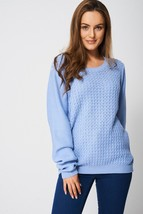 Textured Sweater / Jumper In Blue Sizes 8, 10, 12, 14 Brand NEW - $22.48