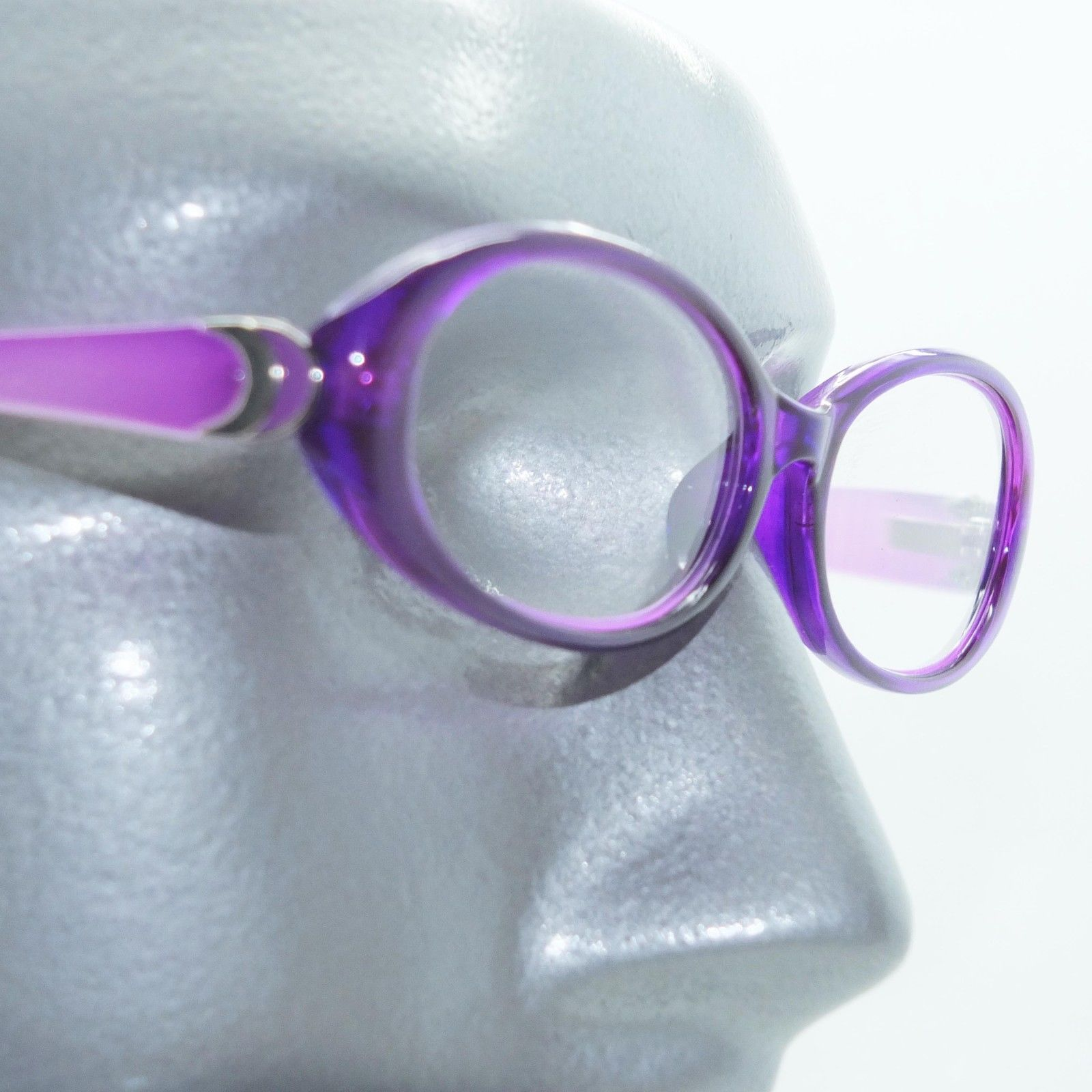 Primary image for Fun Reading Glasses See Thru Purple Grape Jelly Whimsy Oval Frame +2.75 Lens