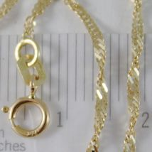 SOLID 18K YELLOW GOLD SINGAPORE BRAID ROPE CHAIN 16 INCHES, 2 MM MADE IN ITALY  image 3