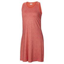 NWT New Womens Columbia Red Saturday Trail Dress UPF M Zip Pocket Logo W... - $58.49