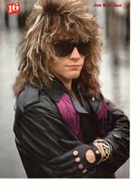 Jon Bon Jovi Michael J. Fox teen magazine pinup clipping black gloves sunglasses
