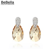 BeBella crystal pear drop earrings for women with Crystals from Swarovsk... - $20.86