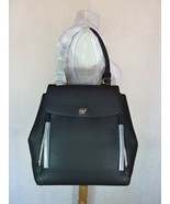 NWT Tory Burch Black Leather Half-Moon Tote $598 - $552.42