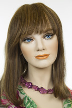 Piano Stripe Dark Brown with Strawberry Brunette Medium Premium Remy Wigs - $288.30