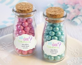 Vintage Milk Bottle Favor Jar - Gender Reveal (2 Sets of 12) (Personalization Av - $49.99