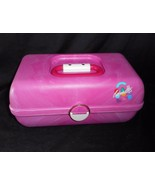 VINTAGE PINK CABOODLES MAKEUP / NAIL COSMETIC ORGANIZER CARRYING CASE W/... - $45.82