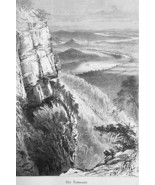 TENNESSEE River Valley from Lookout Mountain - 1883 German Print - $16.20